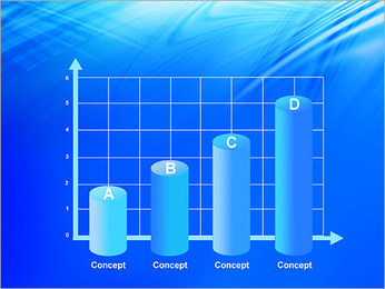 Blue Light Wave PowerPoint Template - Slide 21