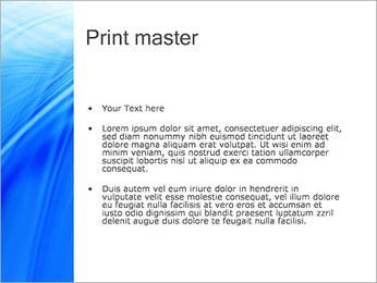Blue Light Wave PowerPoint Template - Slide 24