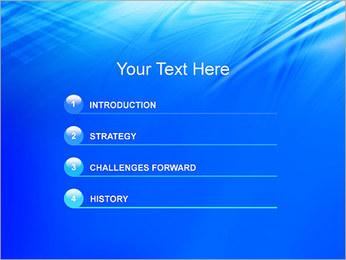 Blue Light Wave PowerPoint Template - Slide 3