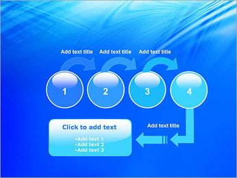 Blue Light Wave PowerPoint Template - Slide 4