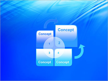 Blue Light Wave PowerPoint Template - Slide 5