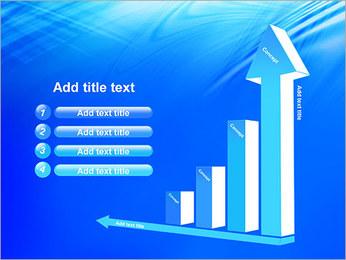 Blue Light Wave PowerPoint Template - Slide 6