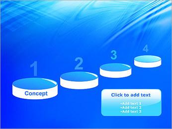 Blue Light Wave PowerPoint Template - Slide 7