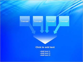 Blue Light Wave PowerPoint Template - Slide 8