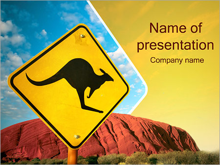 australia kangaroo sign powerpoint template