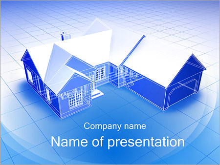 3d house plan powerpoint template backgrounds id 0000001945 3d house plan powerpoint templates toneelgroepblik Gallery