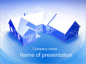 3D House Plan PowerPoint Template