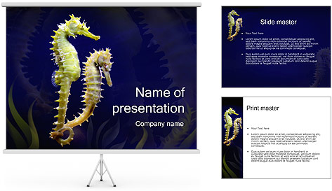 Horse Sea PowerPoint Template