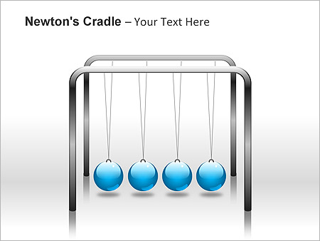 Newtons Cradle PPT Diagrams & Chart & Design ID 0000001955 ...