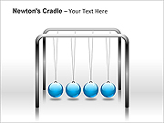 Newtons Cradle PPT Diagrams & Charts