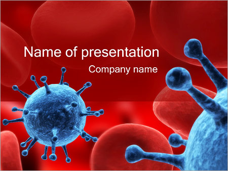 Human biology powerpoint templates backgrounds google slides virus in blood powerpoint template toneelgroepblik Gallery