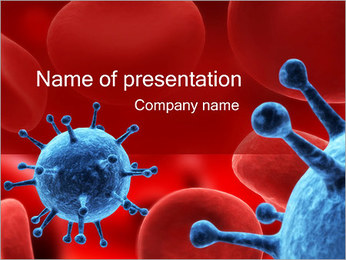 Virus in Blood Sjablonen PowerPoint presentatie