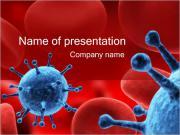 Virus in Blood Sjablonen PowerPoint presentatie