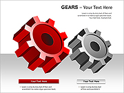Gear PPT Diagrams & Chart