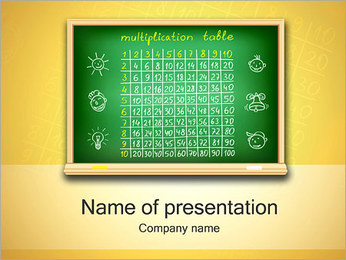 Multiplication Table PowerPoint Template
