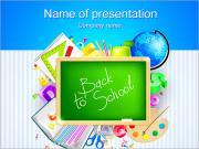 Skola Set PowerPoint presentationsmallar