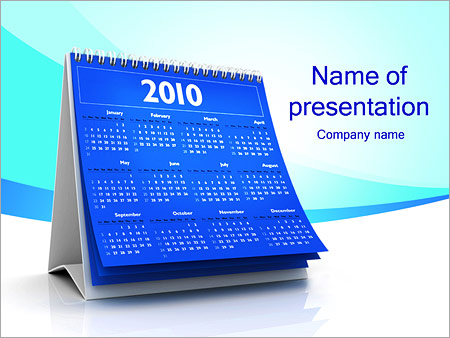 calendar 2010 powerpoint template & backgrounds id 0000001968, Modern powerpoint