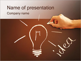 Hand Drawing Idea PowerPoint Template