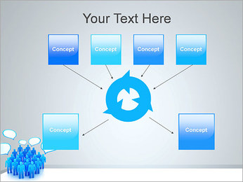 Multidão e mensagens Modelos de apresentações PowerPoint - Slide 10