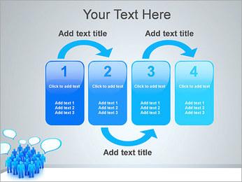 Multidão e mensagens Modelos de apresentações PowerPoint - Slide 11