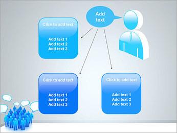 Multidão e mensagens Modelos de apresentações PowerPoint - Slide 12