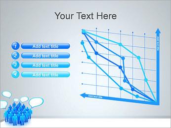 Multidão e mensagens Modelos de apresentações PowerPoint - Slide 13