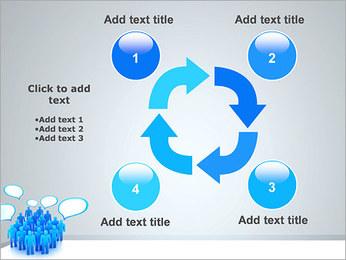 Multidão e mensagens Modelos de apresentações PowerPoint - Slide 14