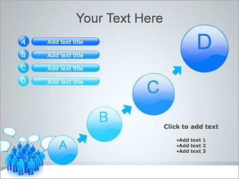 Multidão e mensagens Modelos de apresentações PowerPoint - Slide 15