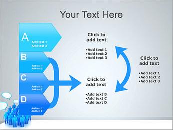Multidão e mensagens Modelos de apresentações PowerPoint - Slide 16