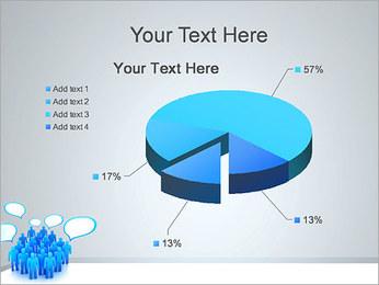 Multidão e mensagens Modelos de apresentações PowerPoint - Slide 19