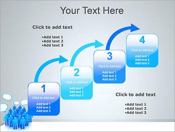 Multidão e mensagens Modelos de apresentações PowerPoint - Slide 20