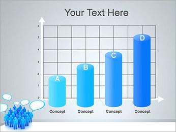 Multidão e mensagens Modelos de apresentações PowerPoint - Slide 21