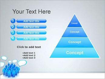 Multidão e mensagens Modelos de apresentações PowerPoint - Slide 22