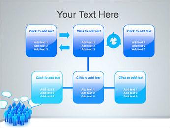 Multidão e mensagens Modelos de apresentações PowerPoint - Slide 23