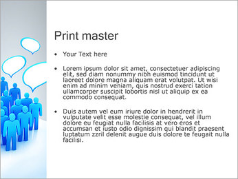 Multidão e mensagens Modelos de apresentações PowerPoint - Slide 24