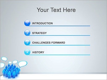 Multidão e mensagens Modelos de apresentações PowerPoint - Slide 3