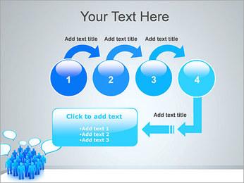 Multidão e mensagens Modelos de apresentações PowerPoint - Slide 4