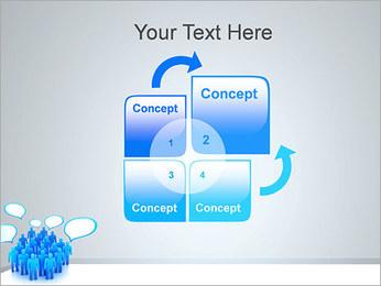 Multidão e mensagens Modelos de apresentações PowerPoint - Slide 5
