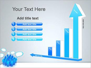 Multidão e mensagens Modelos de apresentações PowerPoint - Slide 6