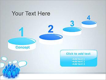 Multidão e mensagens Modelos de apresentações PowerPoint - Slide 7