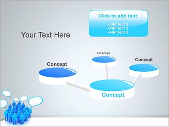 Multidão e mensagens Modelos de apresentações PowerPoint - Slide 9