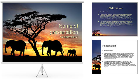Elephant Powerpoint Template Free Zoo Powerpoint Templates Myfreeppt Com