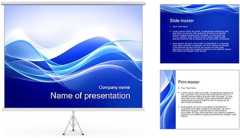 Vagues dynamiques Modèles des présentations  PowerPoint