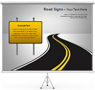 Road Signs Gráficos y diagramas para PowerPoint