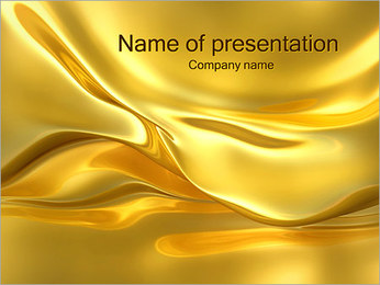 Golden Waves PowerPoint Template