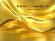 Golden Waves PowerPoint Templates