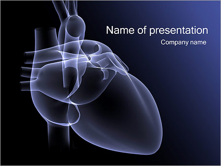 Heart X Ray Powerpoint Template Backgrounds Google Slides Id