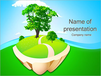 Green Land PowerPoint sunum şablonları