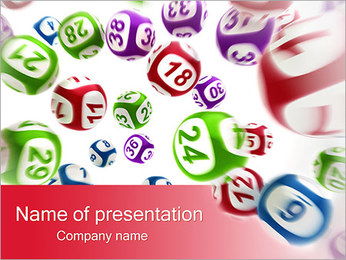 Lottery Balls PowerPoint Template