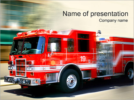 Fire truck powerpoint template backgrounds google slides id fire truck powerpoint template slide 1 maxwellsz
